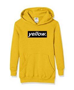 yellow font hoodie