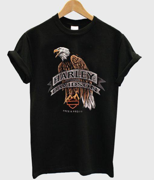 harley davidson eagle logo t-shirt