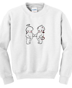 angel and devil baby sweatshirt