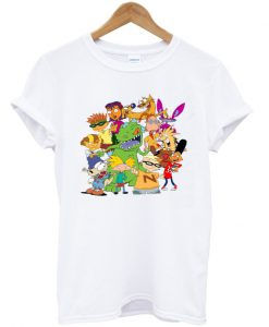 90's cartoon mash up nickelodeon t-shirt