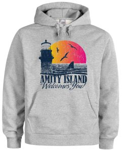 amity island welcomes you hoodie