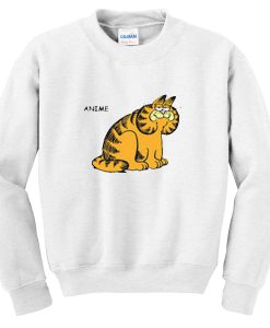 anime garfield sweatshirt