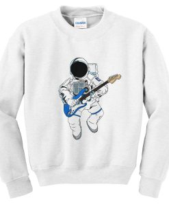 astronaut playing guitar sweatshirt
