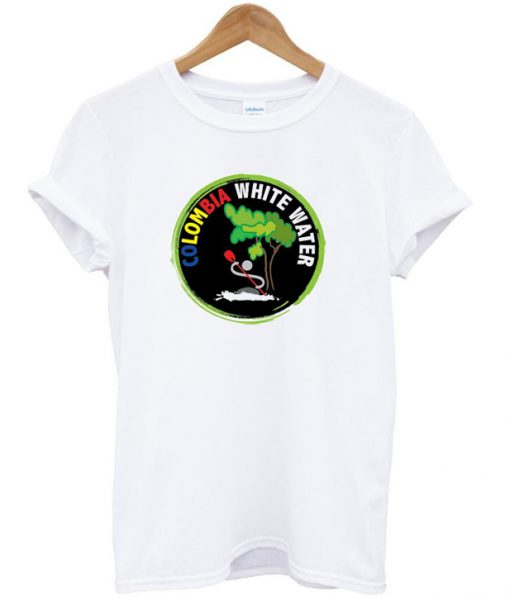 colombia white water t-shirt
