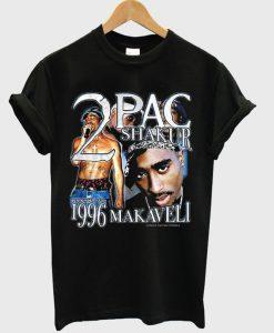 2 pac shakur 1996 makaveli t-shirt