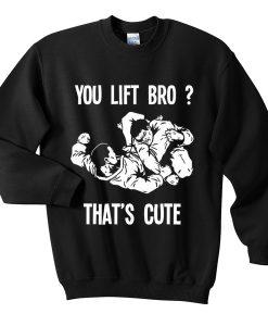 you lift bro sweatshirt